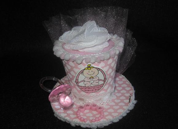 Baby Shower Mini Top Hat (Girl)