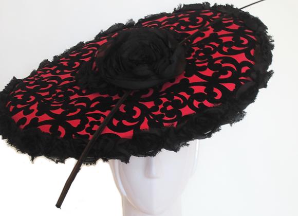 Senorita (Red and Black Fascinator