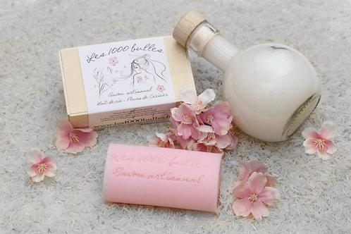 Savon au lait de riz et fleurs de cerisier 110g