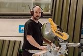 Andrew Hunt Flooring Installer at shaye's tiny homes New Zealand