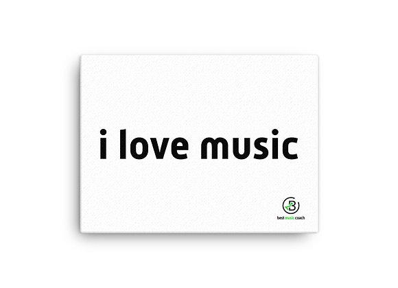 """I Love Music"" Canvas Wall Art"