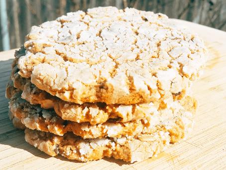 -Peanut Butter Crinkle Cookies-