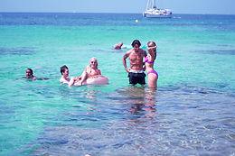 Nika Kljun, CJ Salvador and Delaney Glazer enjoying ibiza beach with Ibiza Danza Platform