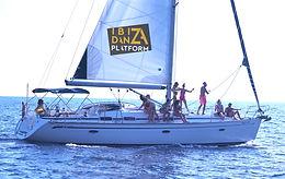 Boat party in ibiza at ibiza danza platform