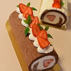 ロールケーキ(苺チョコ)