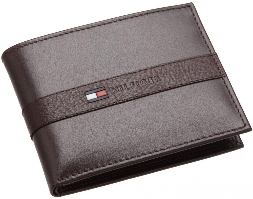 محفظة جلد للرجال - تومي هيلفيجر