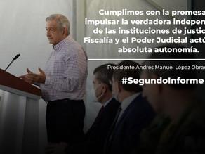 Segundo informe de Gobierno de México 2019-2020