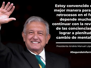 Segundo informe de Gobierno de México 2019-2020.