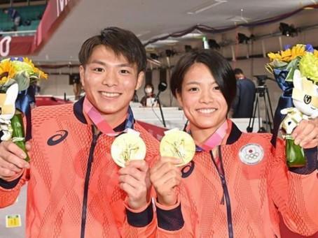 史上初、きょうだい同日金メダル獲得!