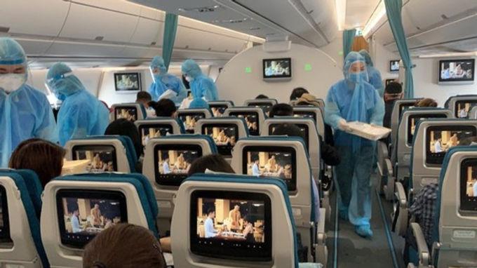 ベトナムへの帰国便
