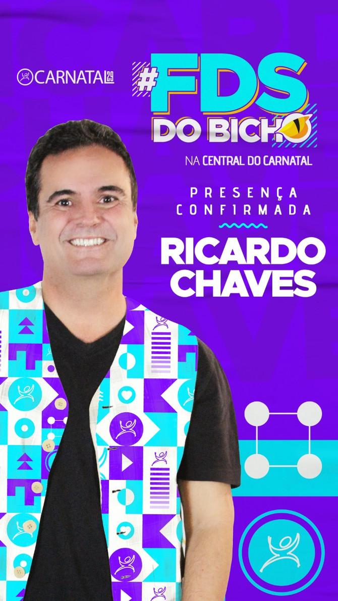 Ricardo Chaves lança nesta sexta-feira o FDS DO BICHO na Central do Carnatal