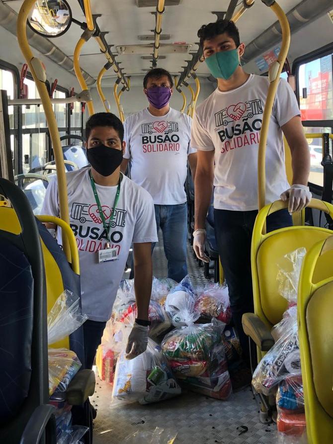 Busão Solidário do Seturn/NatalCard programa nova distribuição de cestas básicas