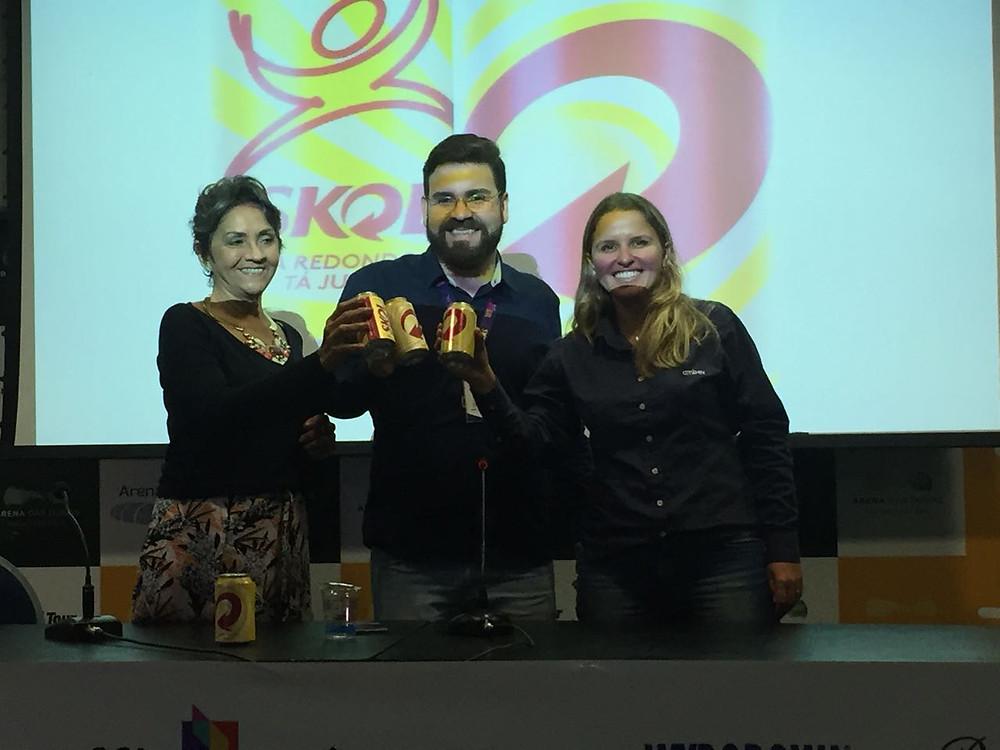 Iracy Azevendo, João Henrique e Juliana Esteves.