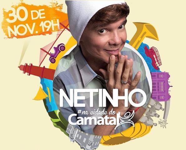 Netinho retorna a Natal em noite especial na próxima quarta-feira (30)