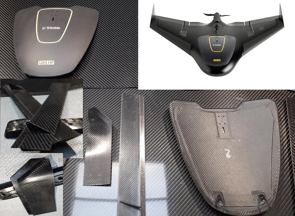 Drone composite parts UX5 Trimble