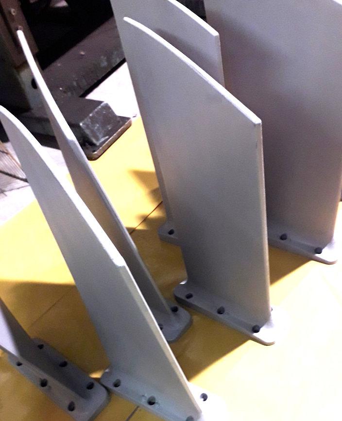 rotor blades coated