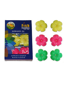 Fish Candles Water Floater Candles Jaswanti flower shaped small water floating candles Mumbai Pune Goa Maharashtra Best Quality Good Superior Decorative Fancy Gifting