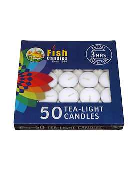 Fish Candles Tea Light Candles Tea Light 10 gms pack of 50 Fish Mumbai Pune Goa Maharashtra Best Quality Good Superior Decorative Fancy Gifting