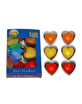 Fish Candles Tea Light Candles Tea Light Heart Valentine heart shaped candle Mumbai Pune Goa Maharashtra Best Quality Good Superior Decorative Fancy Gifting