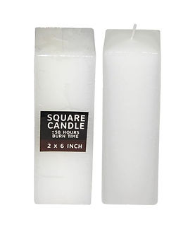 Fish Candles Pillar Candles 2 Inch Square Pillar thick white candle Mumbai Pune Goa Maharashtra Best Quality Good Superior Decorative Fancy Gifting