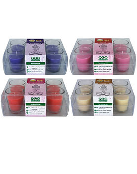 Aroma Candles Scented Votive Pack of 6.j