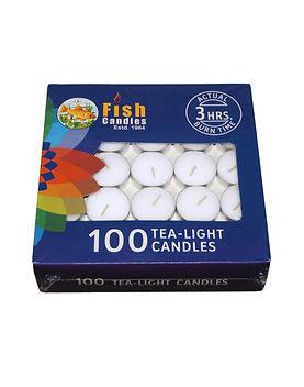 Fish Candles Tea Light Candles 10 gms Tea Light pack of 100 Mumbai Pune Goa Maharashtra Best Quality Good Superior Decorative Fancy Gifting