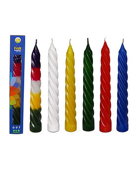 Fish Candles Spiral Candles 007 All Single and multi coloured candles with spiral ribbes Mumbai Pune Goa Maharashtra Best Quality Good Superior Decorative Fancy Gifting