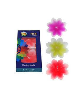 Fish Candles Water Floater Candles Sunflower 2 Pc Big Flower shaped water floating candles Mumbai Pune Goa Maharashtra Best Quality Good Superior Decorative Fancy Gifting
