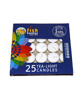 Fish Candles Tea Light Candles 10 grams Tea Light pack of 25 Fish Mumbai Pune Goa Maharashtra Best Quality Good Superior Decorative Fancy Gifting