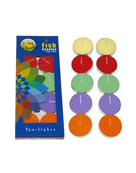 Fish Candles Tea Light Candles Colored Tea Lights 5 colors Mumbai Pune Goa Maharashtra Best Quality Good Superior Decorative Fancy Gifting