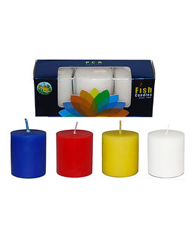Fish Candles Votive Candles Moonglow Round coloured votive candles Mumbai Pune Goa Maharashtra Best Quality Good Superior Decorative Fancy Gifting