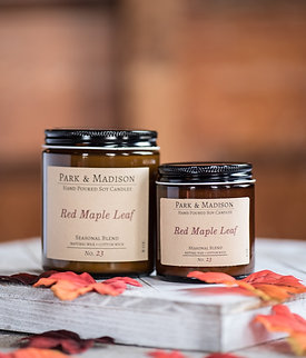 Red Maple Leaf Soy Candle