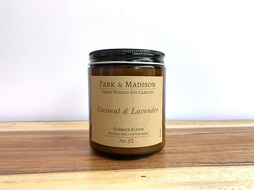 Coconut & Lavender Soy Candle