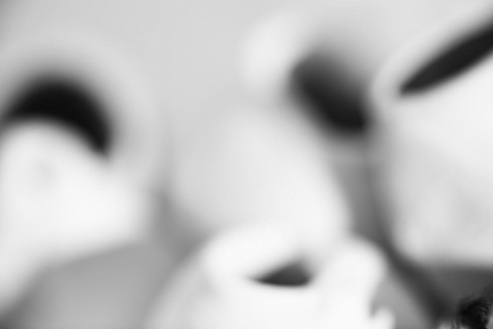 """Ghirare intorno I gusci di noce, trovati sopra il tetto della casa-studio di Palcano, mi sono sembrati un'oggetto adatto per partecipare al festival di Centrale Fotografia Around. Mi ha sorpreso analizzare quanto lo spazio vuoto lasciato nel guscio di noce dai ghiri fosse simile al vuoto della forma che ottengo con le sculture di terra bianca e che Demesis cerca con le sue fotografie. Un vuoto che s'intreccia anche a ciò che sta accadendo in questo momento nel nostro tempo Io e Demesis non ci siamo mai incontrate fisicamente, ci siamo conosciute su una piattaforma virtuale. Filosoficamente virtuale prende il significato di """"potenziale"""" che può accadere e nel nostro caso quel potenziale è realmente accaduto."""