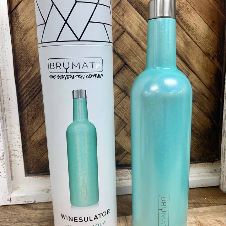 Glitter Aqua Winesulator 25 Oz $34.99