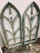 Distressed Teal Arch