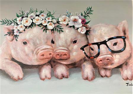 Three Little Pigs Art