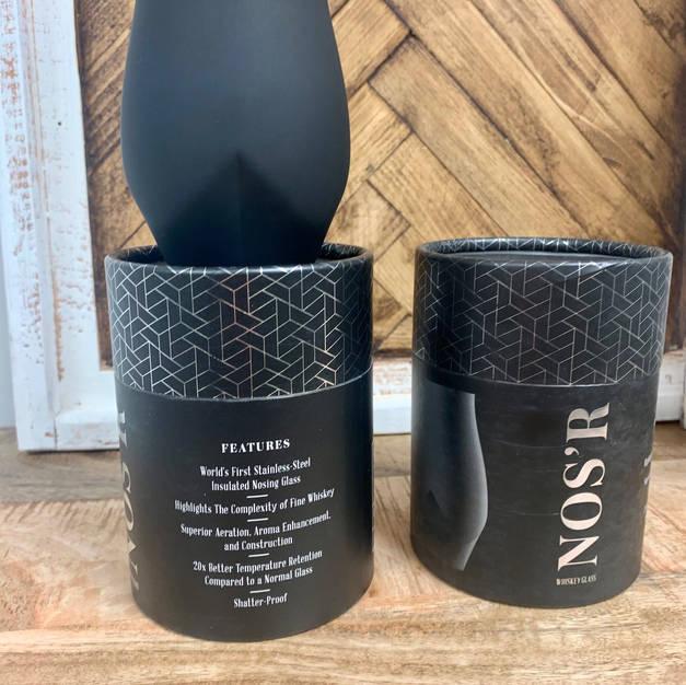 Matte Black Nos'r Whiskey Glass $24.99