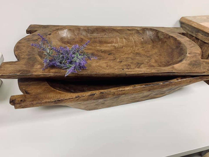 Dough Bowl with Handles- Large