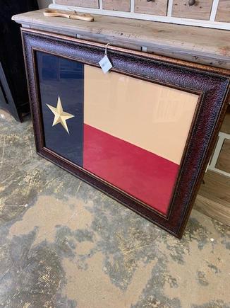 Texas Flag- Leather Look Frame
