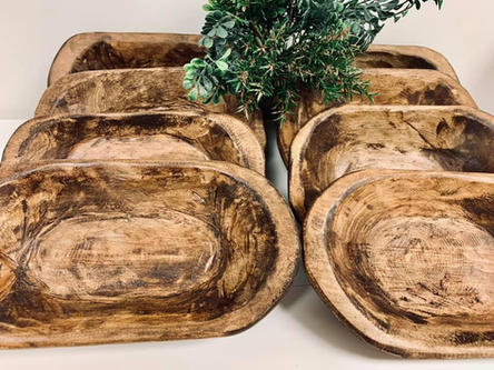 Dough Bowls Wood- Mini