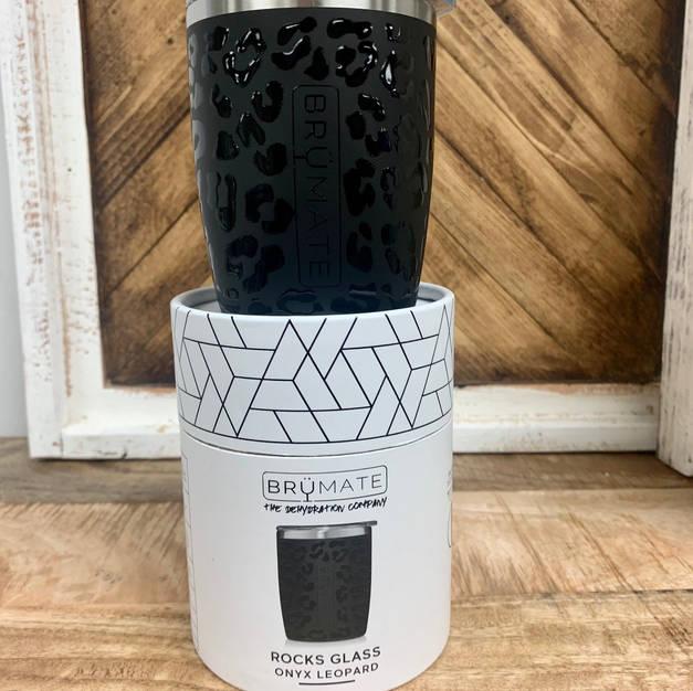 Onyx Leopard Rocks Glass 20 Oz- $24.99