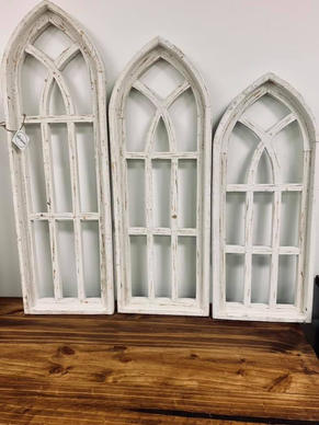 Wooden White Arch Rustic Set