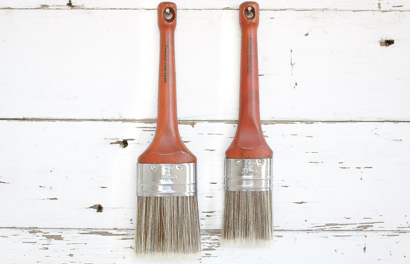 Country Chic Oval Paint Brushes