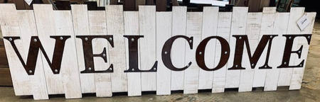Welcome Rustic Sign Wood