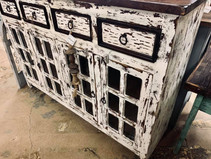 Rustic Wood Buffet
