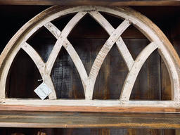 Moon Shaped Wooden Arch