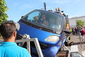 animation voiture tonneau en entreprise