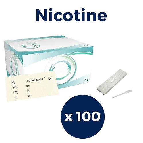 100 tests urinaires de dépistage du tabagisme - Normes CE