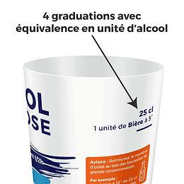 gobelet doseur prévention alcool